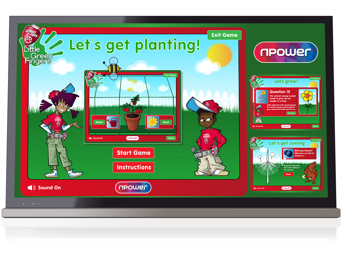 N Power: 'Little Green Fingers' Games image
