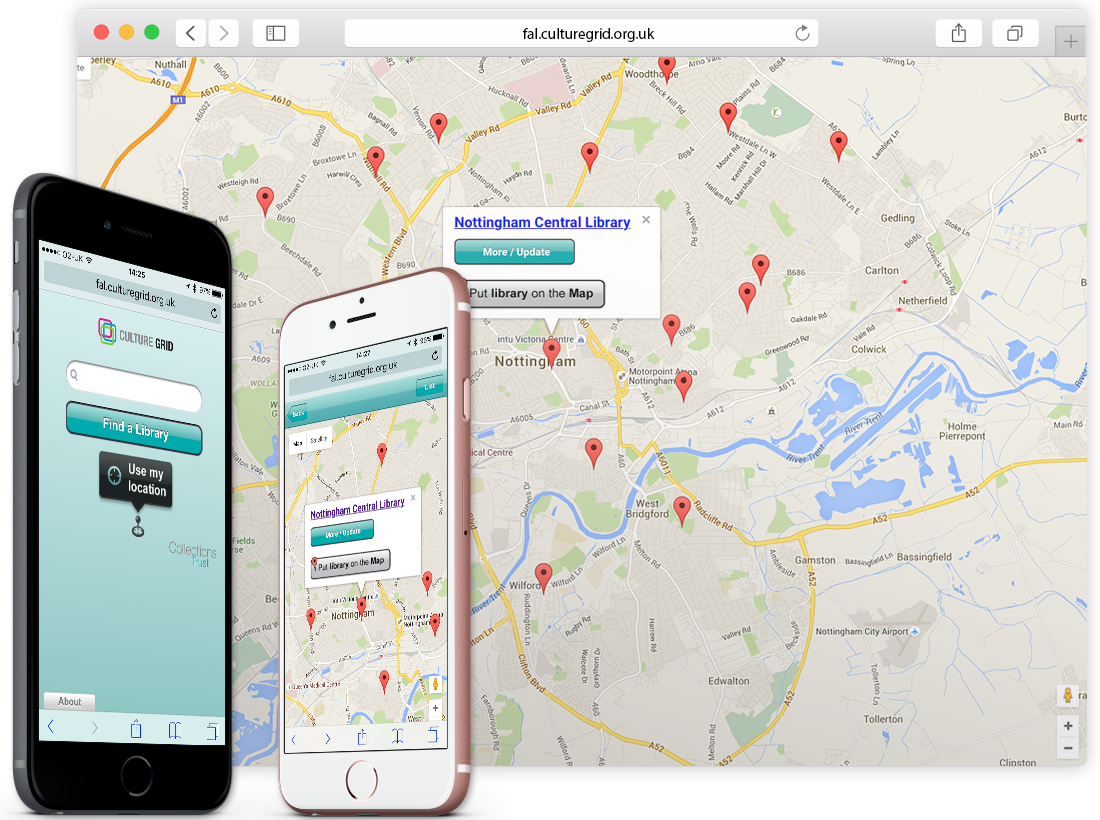 The 'Find a Library' Mobile App image
