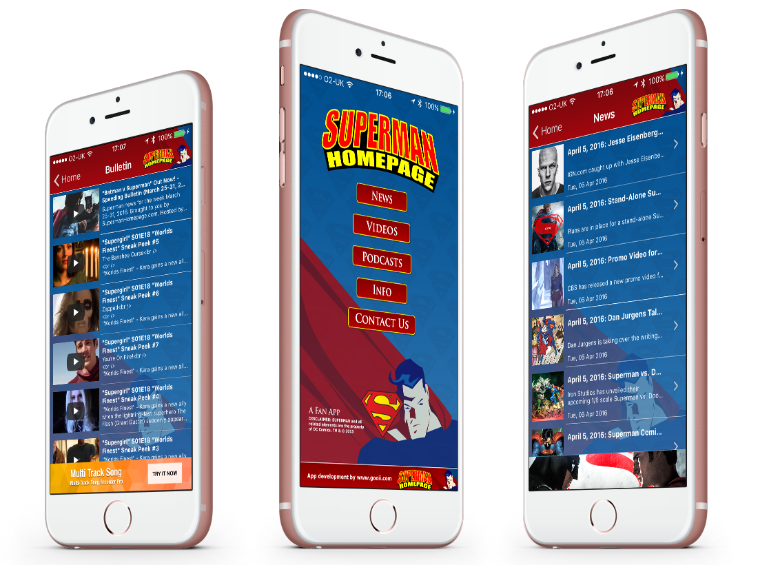 The Superman Homepage iPhone, Android, Kindle and Blackberry App image
