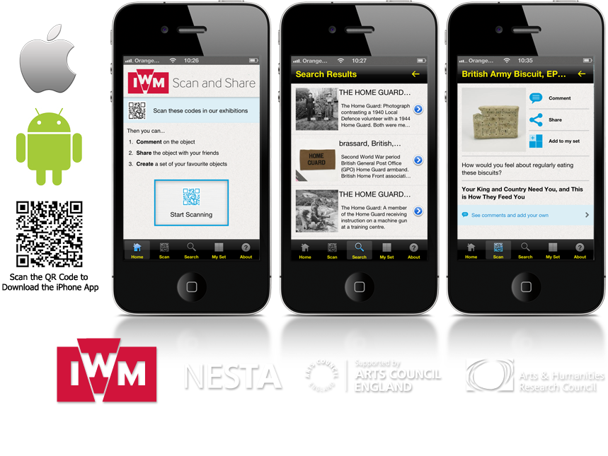 'IWM Scan and Share' iPhone and Android App image
