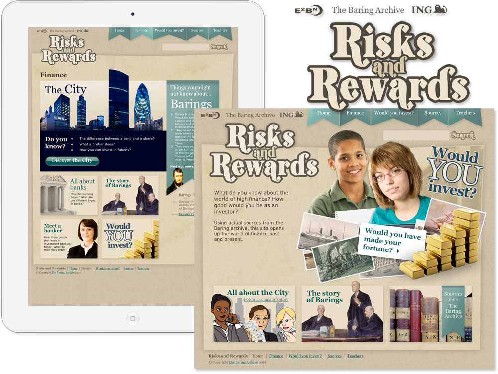 The Baring Archive 'ING Risks and Rewards' Website image