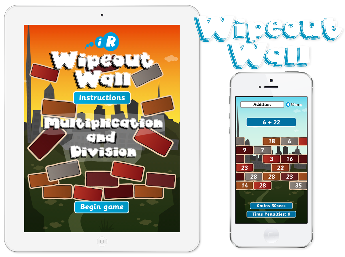 Primary Games Wipeout Wall Apps image