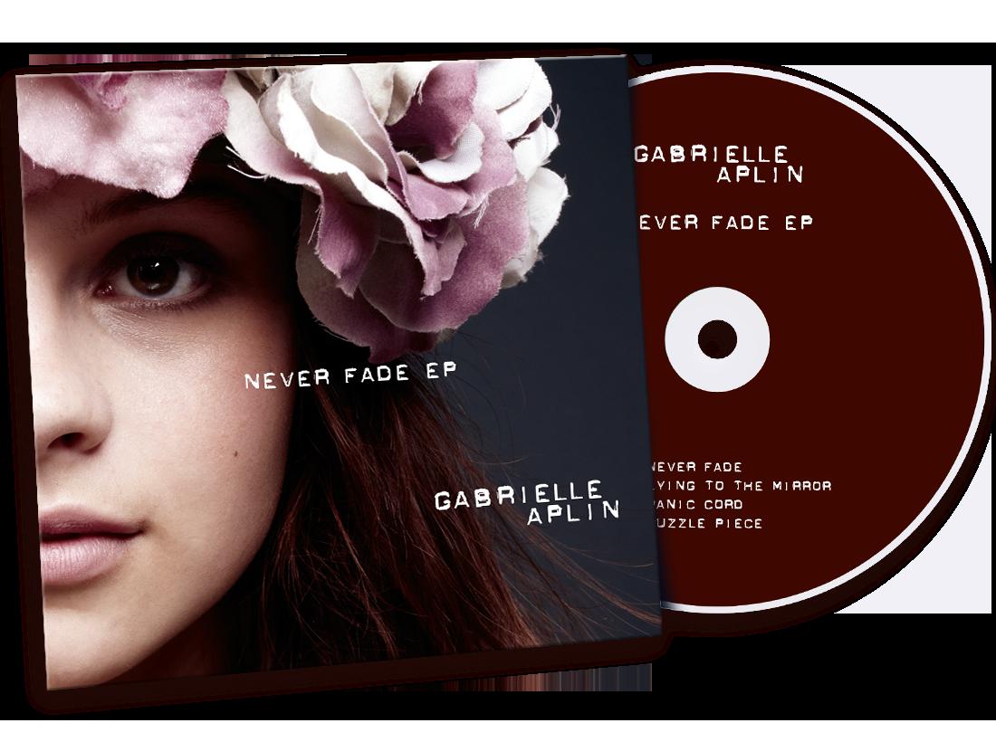 Gabrielle Aplin 'Never Fade EP' Cover Design image