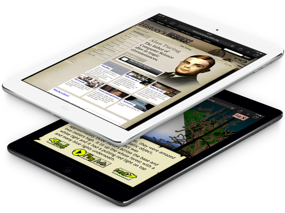 Flash Stories Converted to iPad Friendly HTML5 image