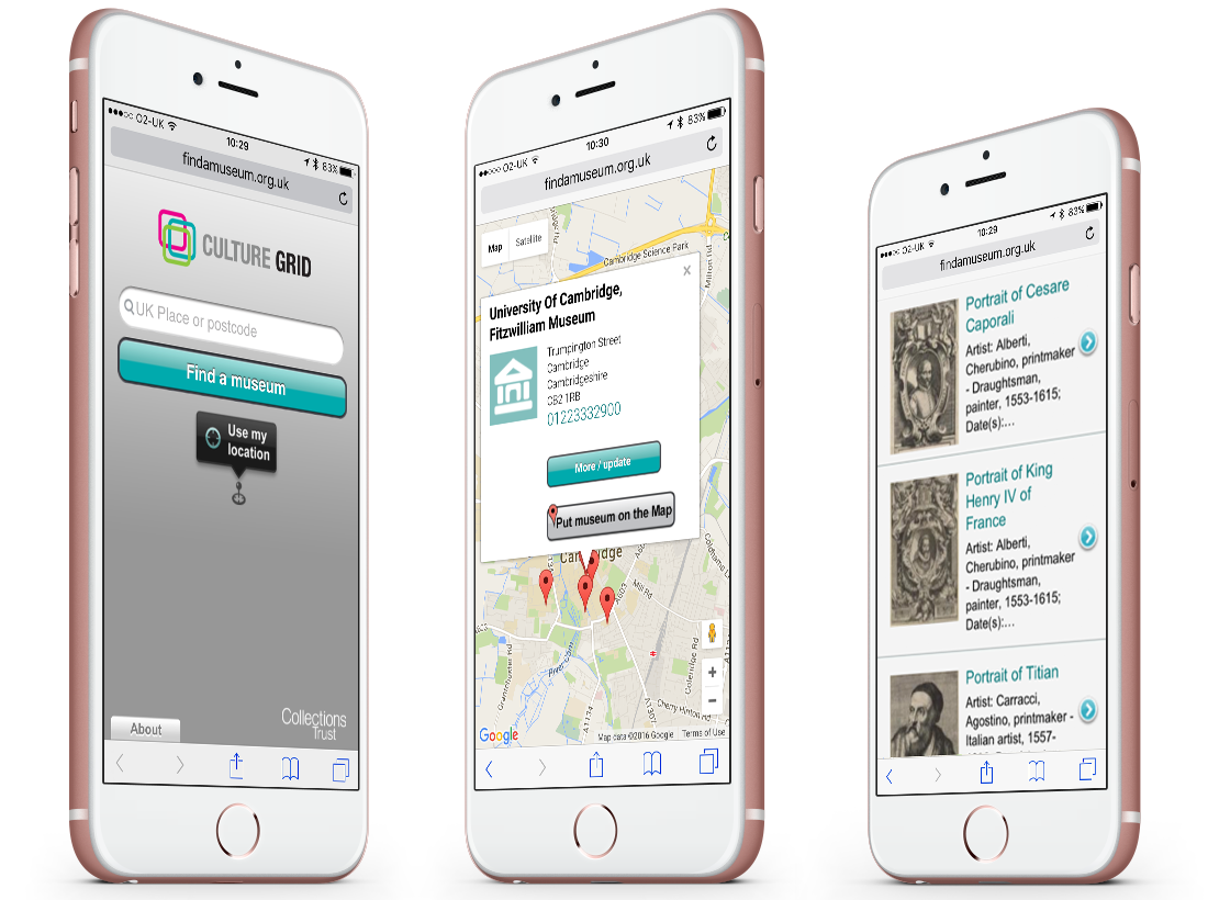 The 'Find a Museum' Mobile App and Website image