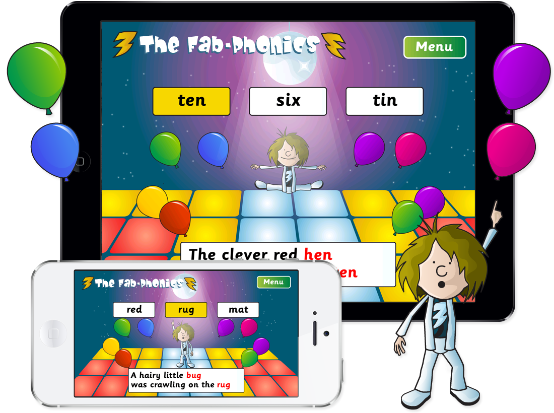 Fab-Phonics 'Rap and Tap' App for iPhone and iPad image