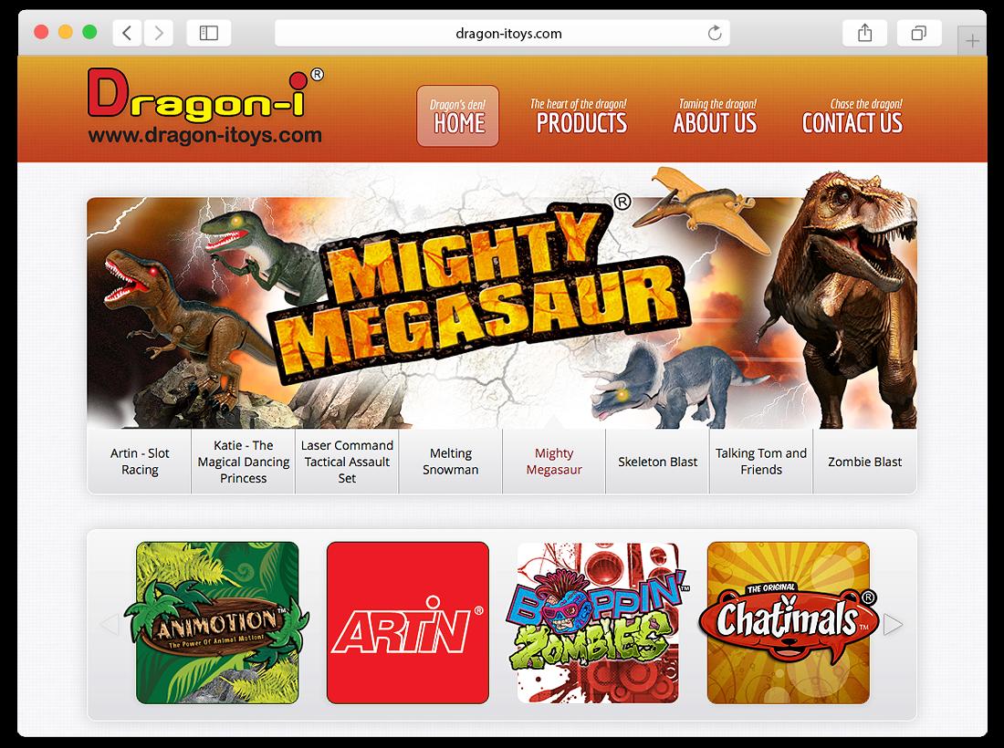 Dragon-i Toys Website Design image