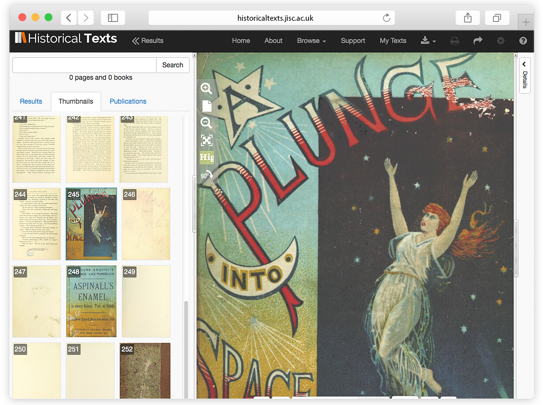 JISC Historical Texts Website Design and Coding image