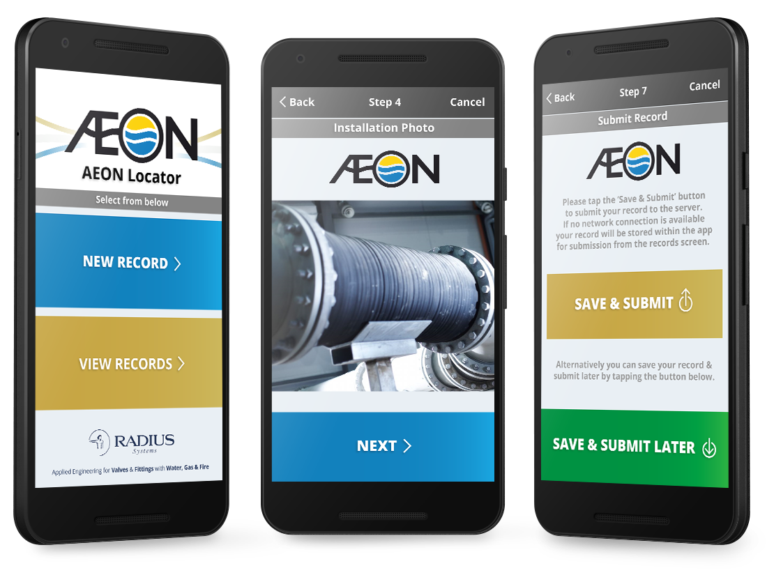 Radius Systems – 'Aeon Locator' Android and Web App image