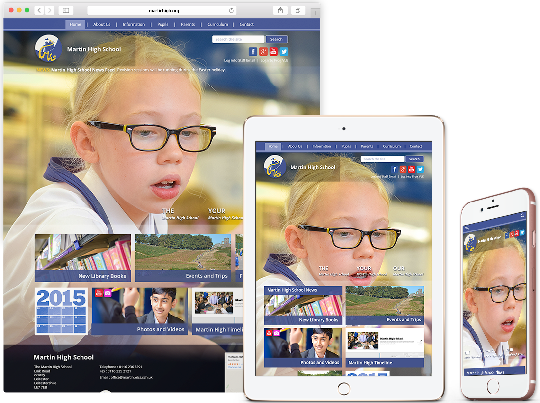 The Martin High School – Responsive Website image