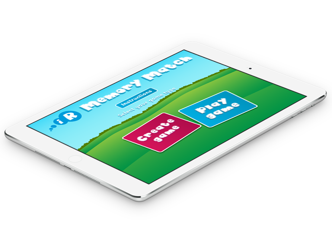 iR Memory Match iPad App - Gooii: Award Winning Website Design & App