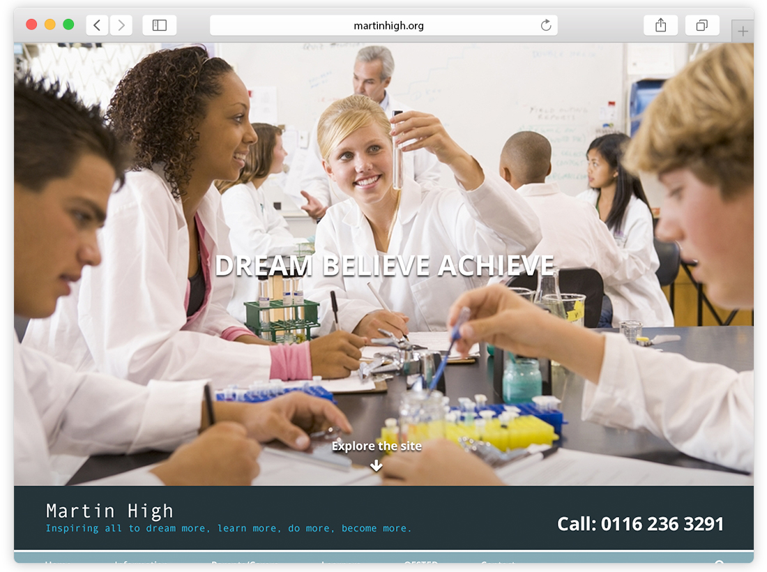 Martin High Website Re-Design image
