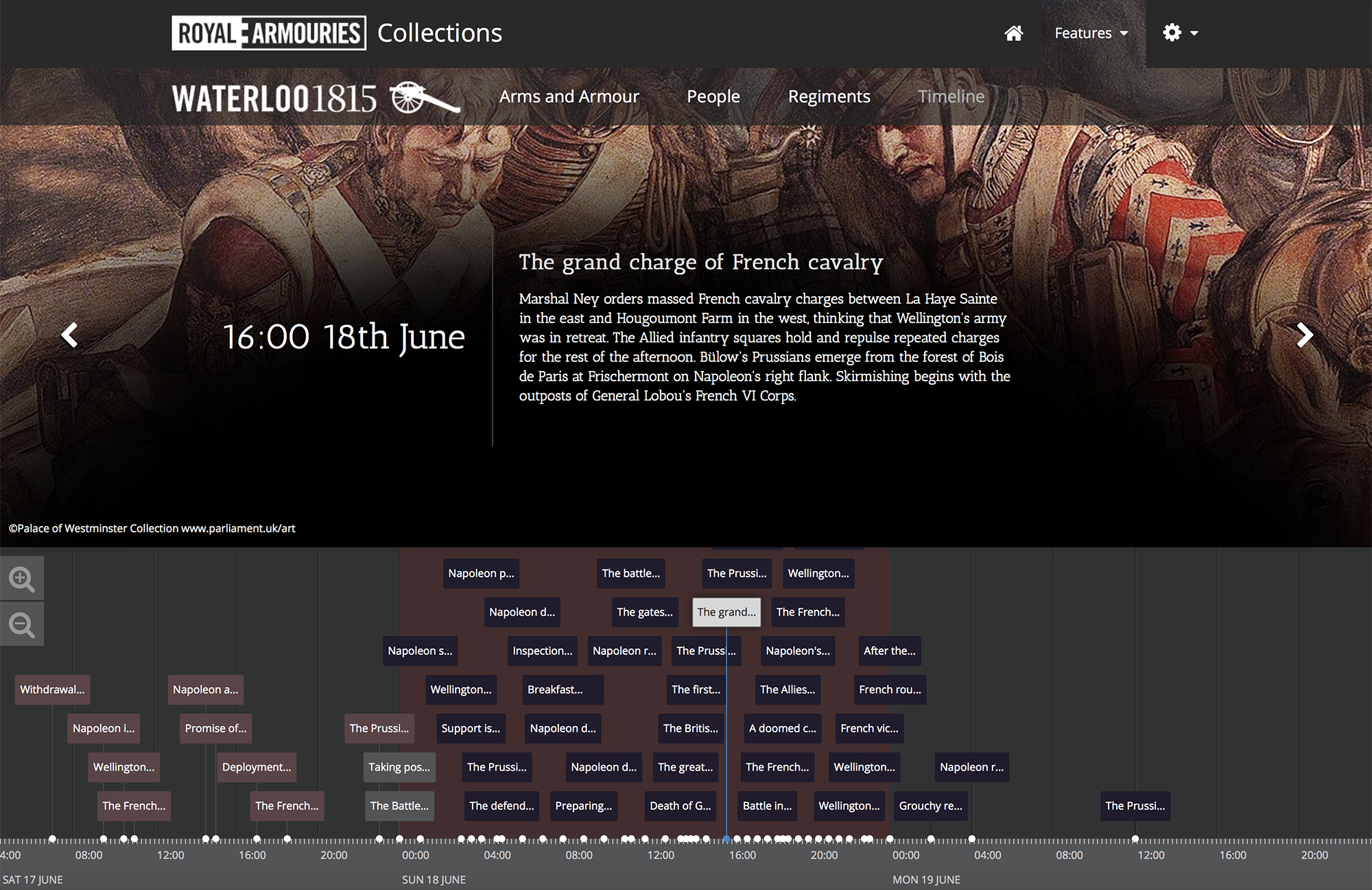 Royal Armouries Waterloo Timeline image