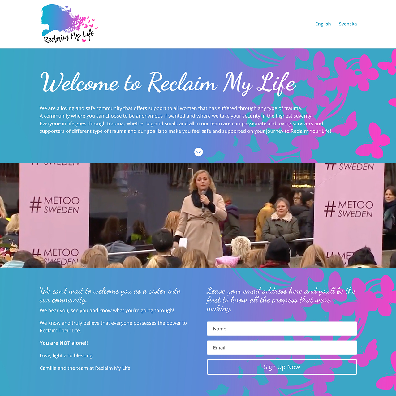 Reclaim My Life WordPress Website image