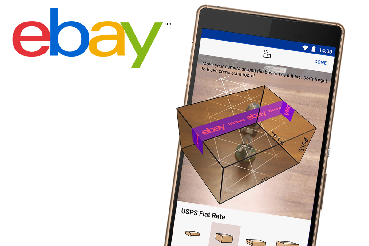 eBay Adds Augmented Reality To Shipping App image
