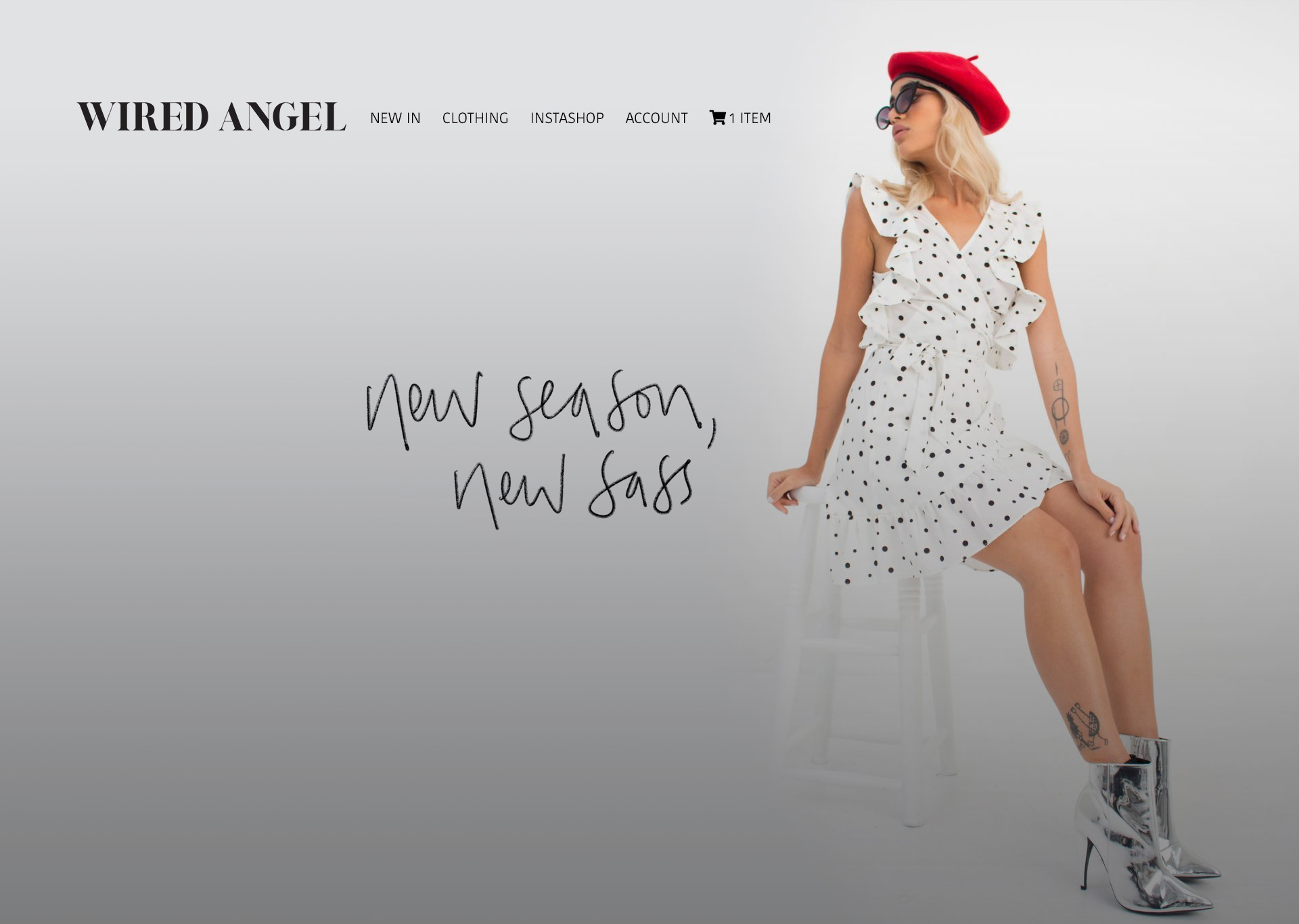 Wired Angel Fashion eCommerce Website image