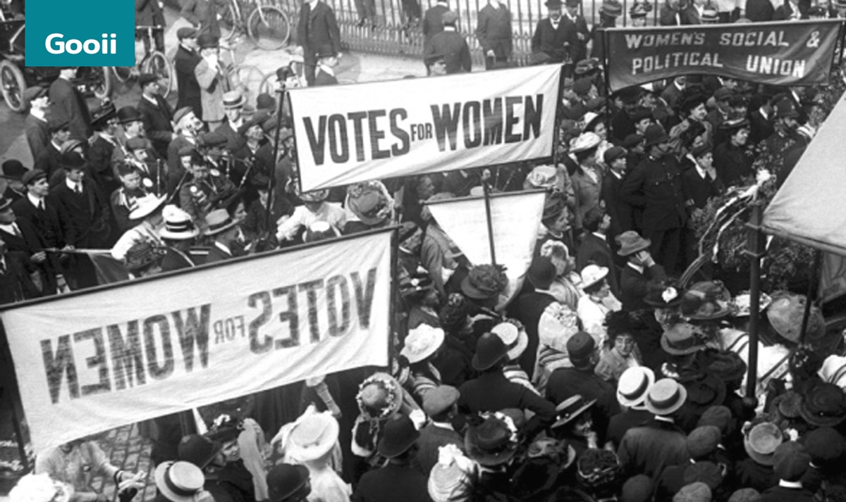 Gooii & HA Awarded School Suffragette Project image