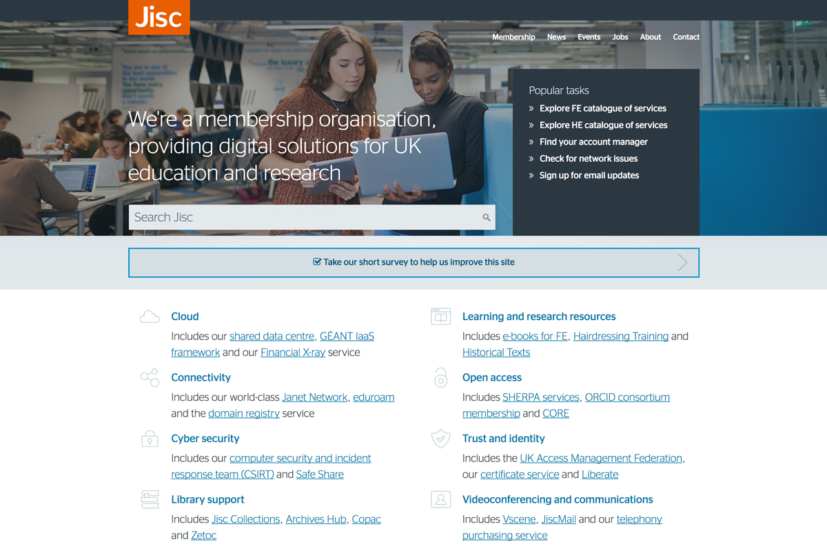 User Interface Design Enhancements Now Live at JISC image