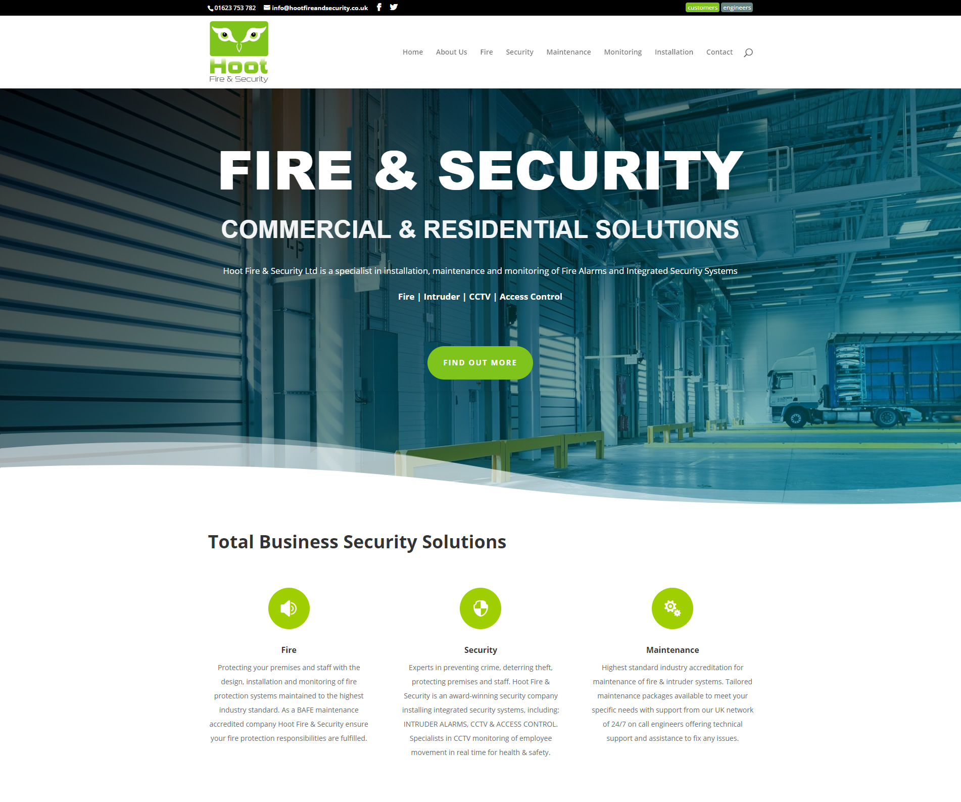 Hoot Fire & Security image
