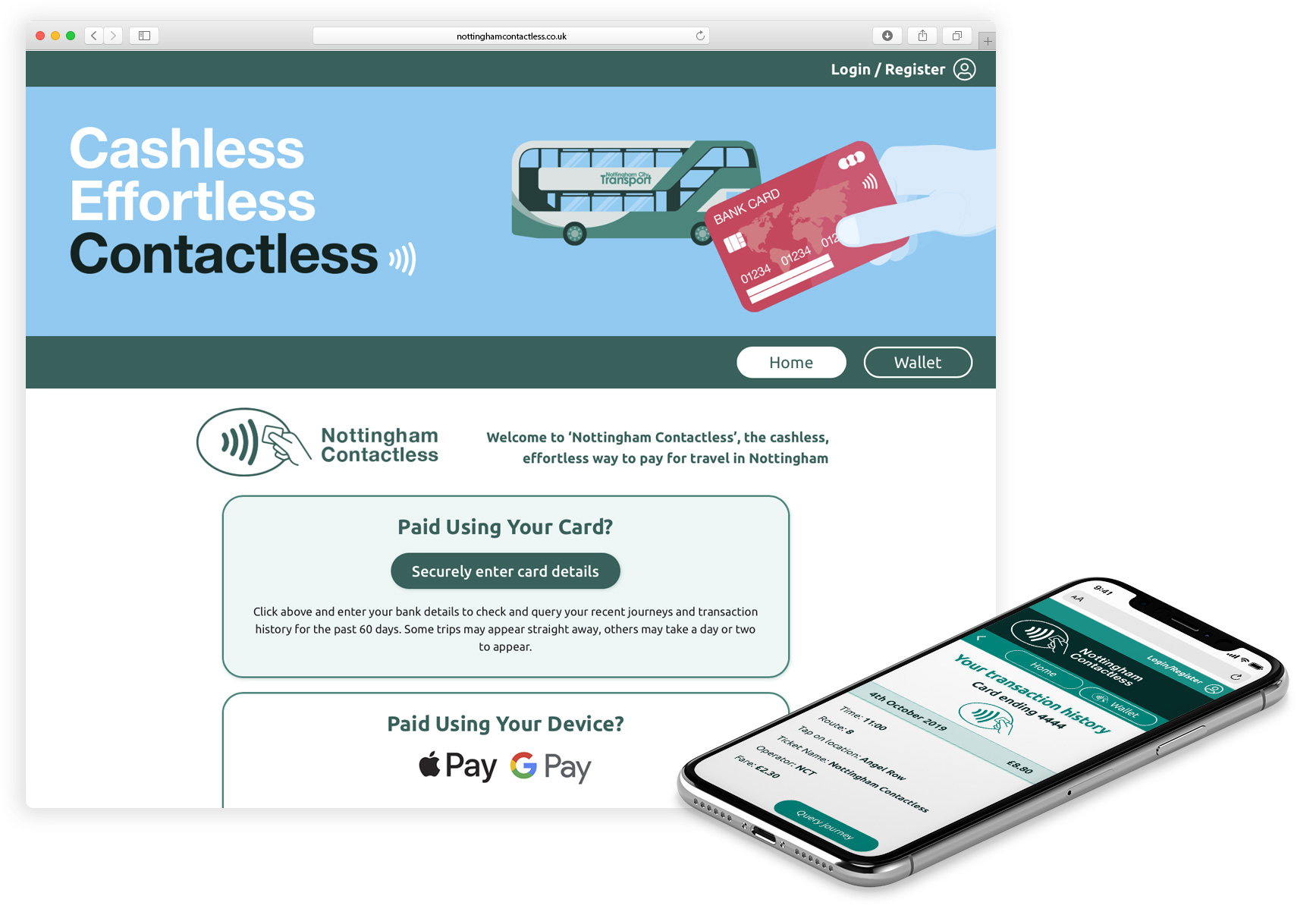 Nottingham Contactless Website image